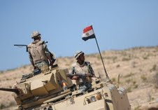 Egypt has recently reinforced its security presence in northern Sinai as part of a broad campaign to eliminate criminal activity. (AFP Photo)