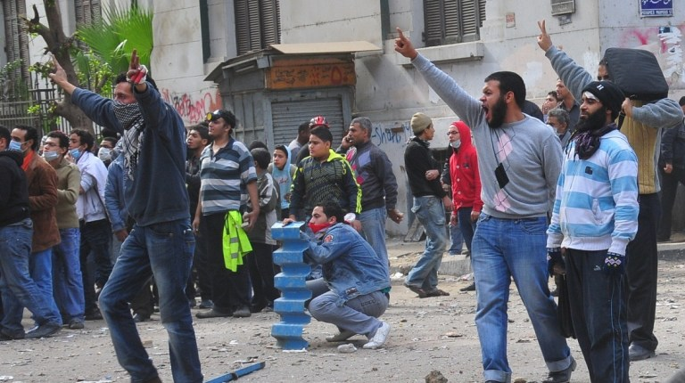The attack comes as the Mohamed Mahmoud Street fighting enters a third day Hassan Ibrahim