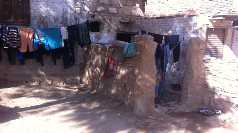 Clothes dry outside Amal's home Ethar Shalaby