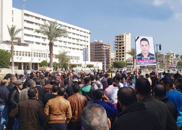 Marches had swept Port Said early on Sunday morning responding to a call for civil disobedience in the governorate. (Photo by Chetos)