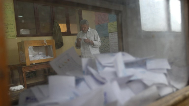 Around 180 e-readers will be provided to 41 Egyptian embassies and consulates to facilitate voting during the presidential elections, which will take place between 15 and 18 May  (AFP Photo)