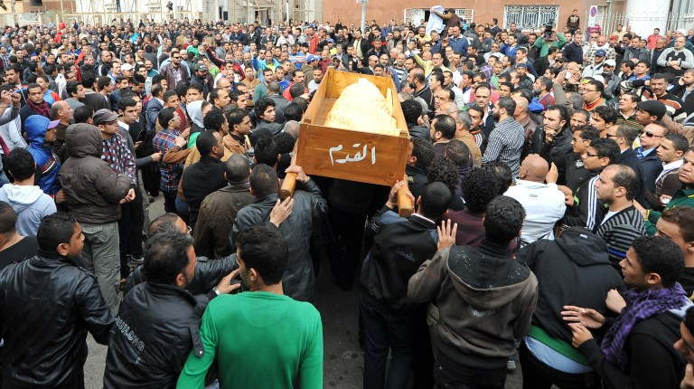 uneral marches also led to renewed violence and a rising death toll in Port Said on Monday(File Photo) ( AFP Photo\ Stringer)