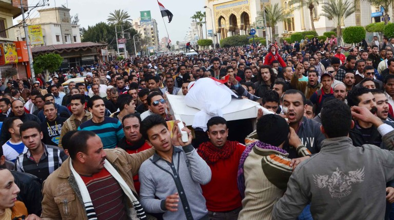 The police withdrawn from Port Said after deadly clashes between policemen and angry protesters (file photo) ( AFP Photo /Stringer)