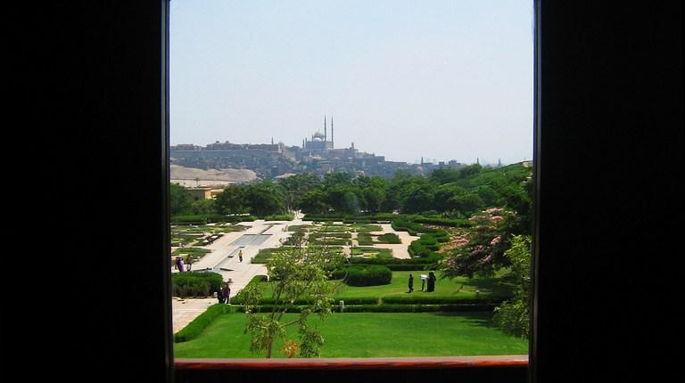 View of the Citadel from Al-Azhar Park Haddara