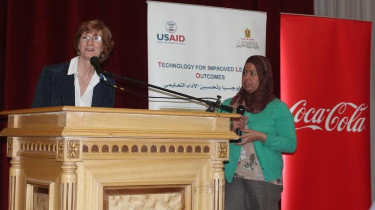 US and Egyptian officials celebrated on Wednesday the graduation of 234 educators from the Greater Cairo region from The Technology for Improved Learning Outcomes (TILO) programme (Photo courtesy of USAID Facebook Page)