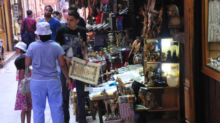 The market in Khan El-Khalili in Cairo has seen a steep decline in visiting tourists Photo by Hassan Ibrahim