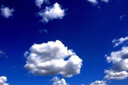 Puffy Clouds Blue Sky