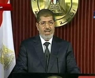 Presiden Mesir Muhammad Mursi. (REUTERS/Nile TV via Reuters TV)