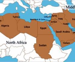 Ilustrasi - Peta kawasan Timur Tengah. (inet)