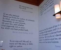 Kutipan surat An Nisa ayat 135 di Universitas Harvard. (Nasihin Masha / sa / ROL)