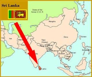 Ilustrasi - Peta lokasi Sri Lanka. (inet)