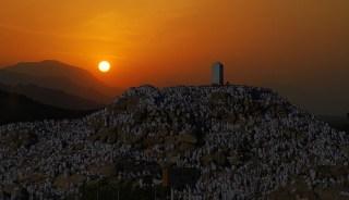 Akhir wukuf di Arafah (inet)