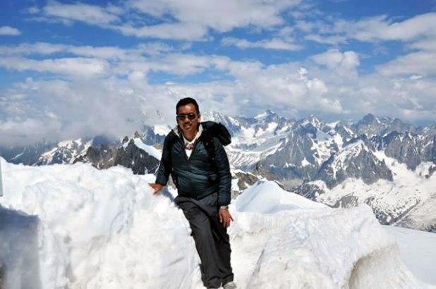 Abdul Hayyi Alkattani saat berada di Chamonix-Mont-Blanc, Rhone-Alpes, Perancis. (ist)