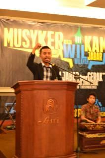 Musyawarah Kerja Wilayah KAMMI Jawa Barat di Hotel Asri Tasikmalaya, Jum'at, 28/11. (foto:Wulan)