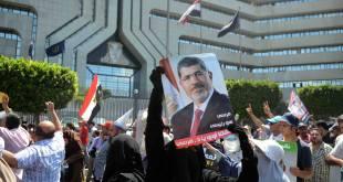 Salah satu demonstrasi mendukung Presiden Mursi (inet)