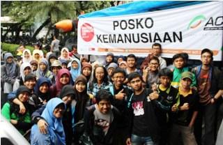 Tim relawan IPB sebelum disebar ke beberapa posko penanggulangan bencana banjir, di kantor pusat ACT Ciputat-Tangerang Selatan. (Foto: Tatu Kulsum/Kastrat LDK Al Hurriyyah IPB)