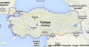 Ilustrasi - Peta Turki. (Foto: Google)