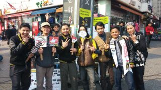 PKS Fans Club Korea gelar sosialisasi Pemilu di kota Ansan, Korea. Sabtu (22/3) - Foto: Deasy