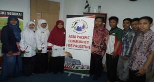 Silaturahim Sebi Solidarity for Palestine ke kantor Asia Pacific Community (ASPAC) di MUC Building, Kamis (27/3) - Foto: Ryan Andriana