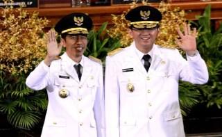 Gubernur DKI Jakarta Joko Widodo (Jokowi) dan Wakil Gubernur Basuki Tjahaja Purnama (Ahok).  (terasjakarta.com)