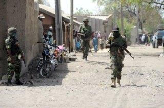 Foto arsip militer Nigeria di kota Gamboru Ngala (informationng.com)