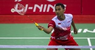Tommy Sugiarto, Tunggal Putra Indonesia yang turut membawa Tim Thomas Cup menjadi juara grup A pada kejuaraan yang digelar di New Delhi India - (republika.co.id)