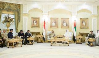 Kunjungan As-Sisi ke Abu Dhabi dua bulan lalu (arsip-reuters)