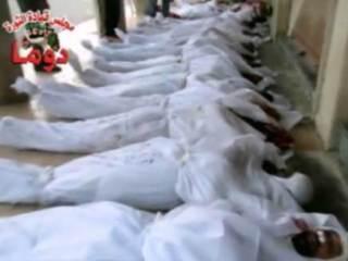 Korban pembantaian yang dilakukan rezim Asad (islammemo)