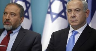 Tokoh-tokoh garis keras Israel, Lieberman dan Netanyahu (paltimes.net)