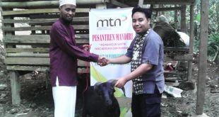 "Peluncuran perdana program 'PEsantren Mandiri"" di Pesantren Darul Mustofa, Kec. Tanjungsiang, Kab. Subang. (sayasih/MTN)"