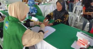 Pengobatan Gratis bagi Warga Teuku Umar Bali.  (Yun/kis/pkpu)