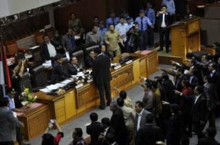 Sidang Paripurna DPR RI yang mengesahkan RUU Pilkada.  (kabar24.com)