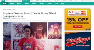 Cuplikan pernyataan Dennis Adhiswara tentang Tifatul Sembiring di situs Metrotvnews.com, 20 September 2014. (dakwatuna/hdn)
