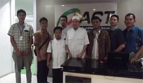 Pengurus Serikap Pekerja Nasional (SPN) saat silaturahim ke kantor ACT, Rabu (5/11/14)