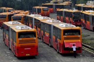 Ilustrasi, Bus TransJakarta. (kabarkorupsi.com)
