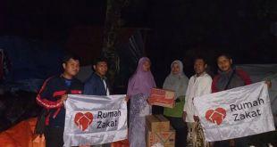 Penyaluran bantuan logistik untuk korban banjir manado. (sari/rz)