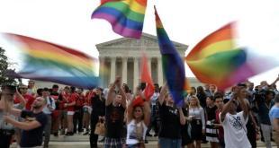 Perayaan dilegalkannya pernikahan sesama jenis di Amerika Serikat. (liputan6.com)
