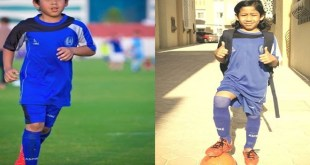 Abdurrahman 'Maradona Cilik' dari Bandung yang bersinar di Qatar.  (ki dalang)
