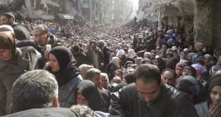 Konflik di Suriah memaksa pengungsi Palestina kembali menjadi pengungsi. (reuters)