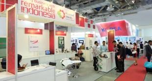 Paviliun Indonesia di CommunicAsia, Singapura. Bertempat di Hall F, Marina Bay Sand, Singapura. (IST)
