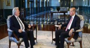 Erdogan saat diwawancarai. (aljazeera mubasher)