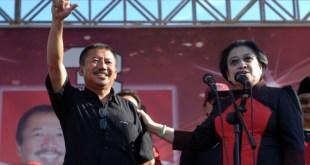 Bambang DH bersama Ketua Umum PDIP Megawati Soekarno Putri. (metrotvnews.com)