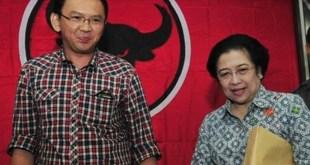 Ketua Umum PDIP Megawati Soekarnoputri dan Gubernur DKI Basuki Tjahaja Purnama. (rmol.co)