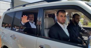 Mantan PM.Palestina Ismail Haneya lintasi penyeberangan Rafah menuju Arab Saudi. (aa.tr)