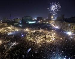 Saat Rakyat Mesir MErayakan Kemenangan Reformasi di Medan Tahrir.