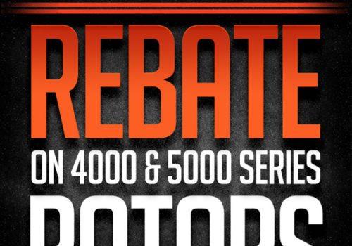 REBATE ON DISC BRAKES AUSTRALIA 4000 AND 5000 SERIES BRAKE ROTORS