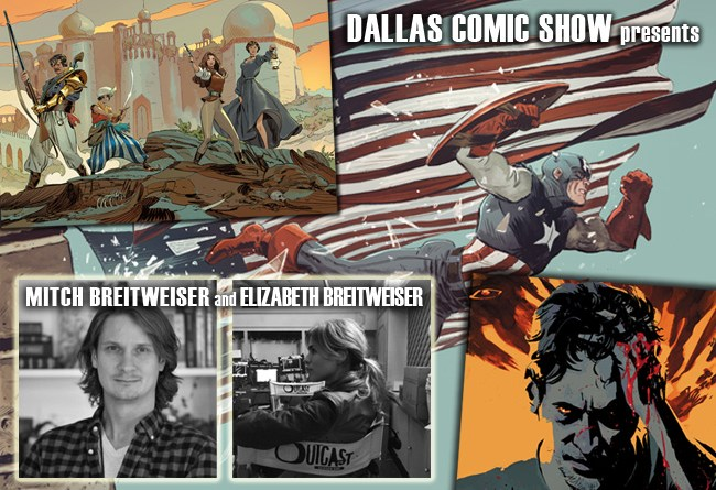 Mitch Breitweiser (CAPTAIN AMERICA) & Elizabeth Breitweiser (OUTCAST) come to DCS August 6-7