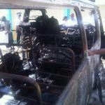 Burning Van in Castries : Driver Safe (St Lucia News)