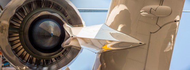 Jet Rear Vert CU, 2015. 235x80 cm, inkjet print on aluminium sheet.