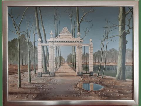 Schilderij van de poort van Frankendeal in Amsterdam Oost.
